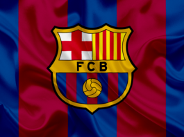 bandeira do time do barcelona