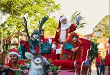 Parque de diversão de Natal em Holambra