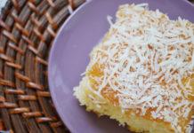 Receita de bolo de coco gelado