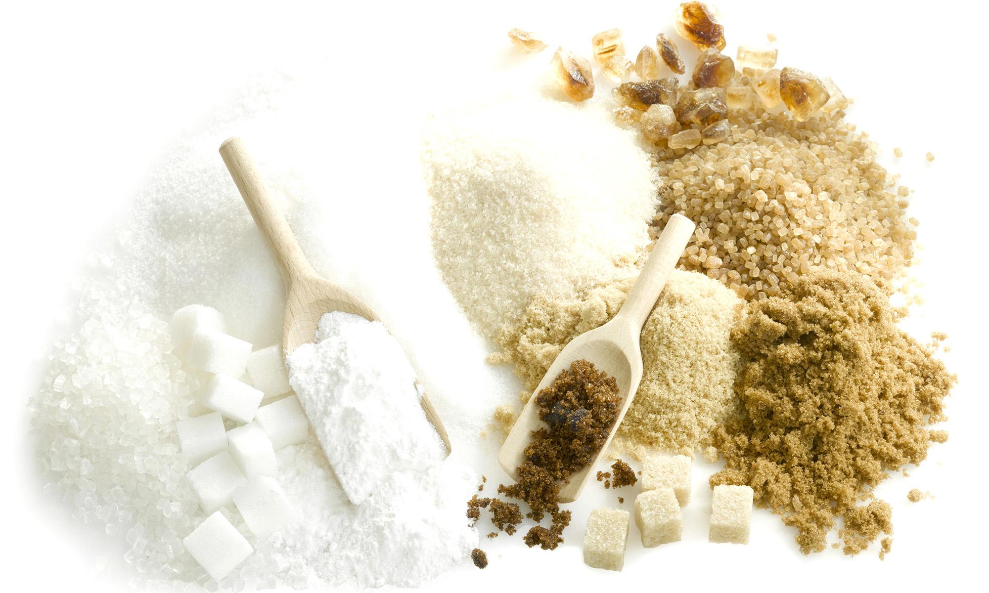 adoçante e açúcar