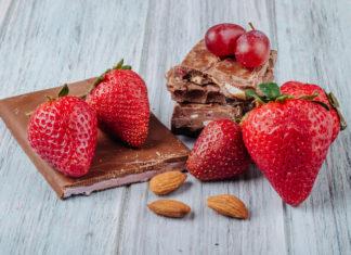 Chocolate com frutas